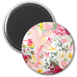 Music Notes, Birds and Flowers Magnet