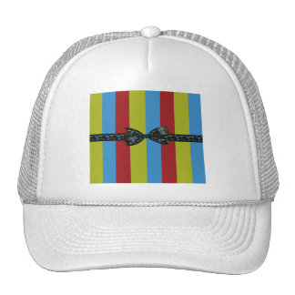 Music Notes Bow & Ribbon Colorful Stripes Trucker Hat