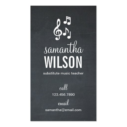 Music Notes Business Card Business Card
