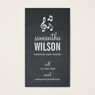 Music Notes Business Card