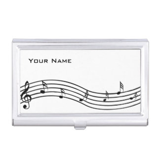Music Notes Business Card Holder