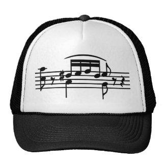 Music notes cap trucker hat