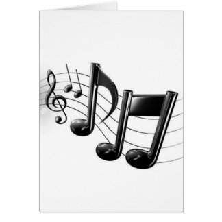 Music Notes Card