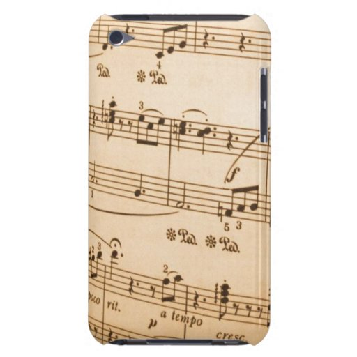 Music Notes Barely There iPod Covers