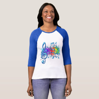 Music Notes Colorful T-Shirt