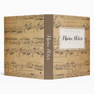 Music Notes Custom Binder
