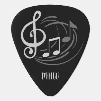 Music Notes Custom monogram guitar pick