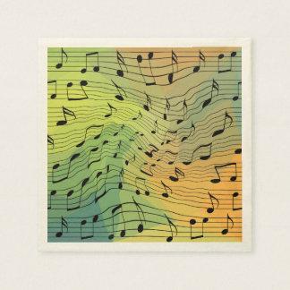 Music notes disposable napkin