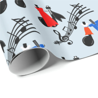 Music Notes Dressed To Dance Wrapping Paper
