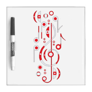 Music Notes Dry Erase Boards