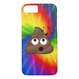 Music Notes Emoji Poop iPhone Case (tie dye)
