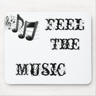 music-notes, Feel The, Music Mouse Pad