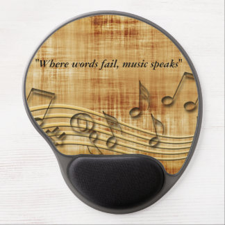 Music Notes Gel Mousepad