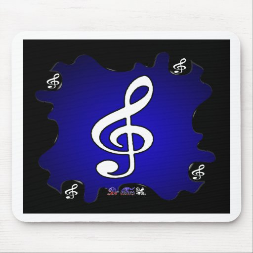 MUSIC NOTES GIFTS CUSTOMIZABLE PRODUCTS MOUSEPAD