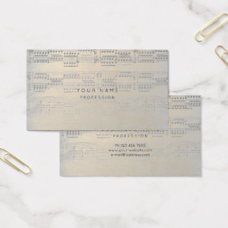 Music Notes Gold Champaign Appointment Card
