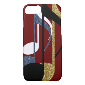 music notes graphic-design iPhone 8/7 case