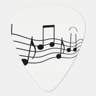 Music notes guitar pick