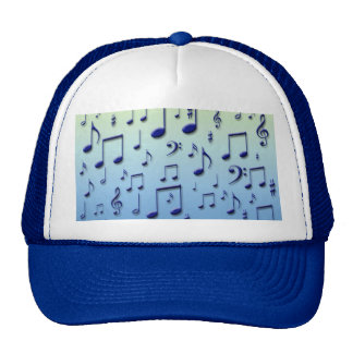 Music notes mesh hat