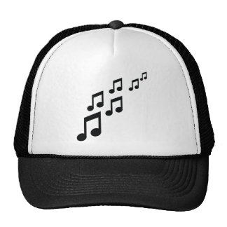 music notes icon trucker hats