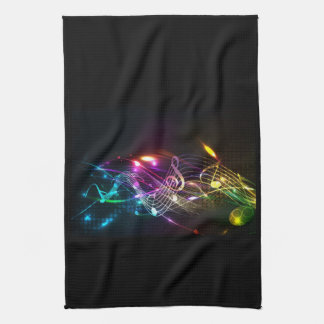 Music Notes in Color for Music-lovers Kitchen Towel