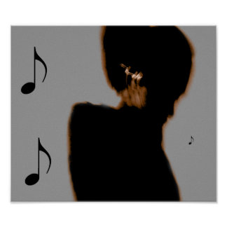 Music Notes In My Ears Poster