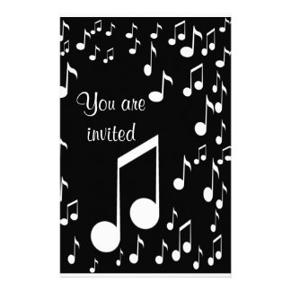 Music Notes Invitations_ Stationery