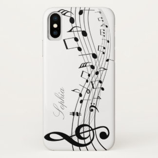 Music Notes iPhone X Case