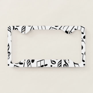 Music Notes Licence Plate Frame
