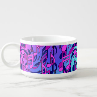 Music Notes Lively Expressive Musical Pattern Chili Bowl