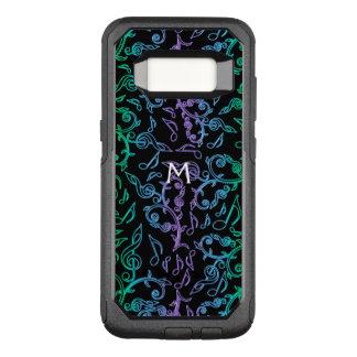 Music Notes Monogram Otterbox Galaxy S8 Case