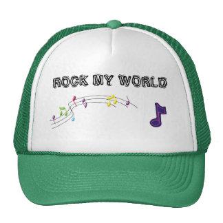 music-notes, musicnote, ROCK MY WORLD Trucker Hat
