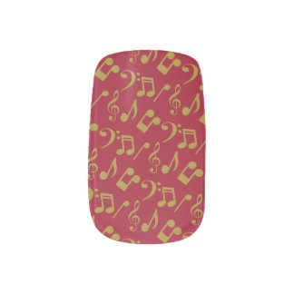 Music Notes Nail Wraps-Gold Minx Nail Art
