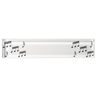Music Notes Name Plate