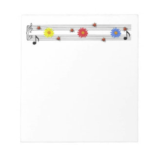 Music Notes Notepad