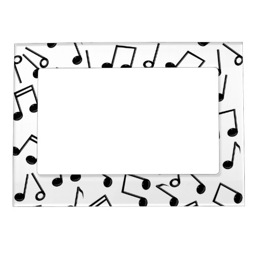Music Notes on Blank (Add Background Colour) Magnetic ...