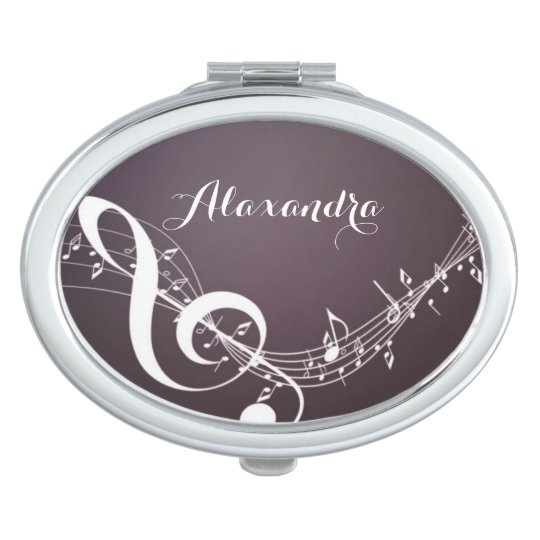 Music Notes on Mirror Compact Compact Mirror