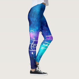 Music Notes Outer Space Leggings