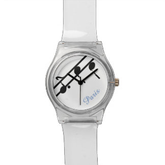 Music Notes Paris May 28th Watch-Customize Watch