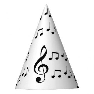 """Music Notes"" Party Hats"