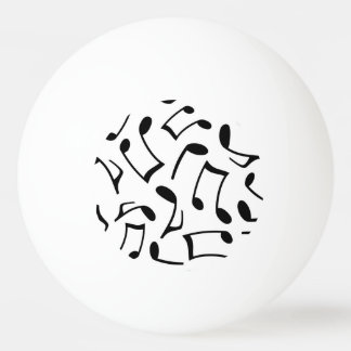 Music Notes Pattern White and Black Ping-Pong Ball
