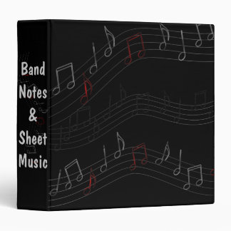 Music Notes Personalized Vinyl Binders