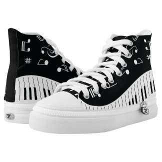 Music Notes Piano Keys High Tops
