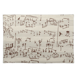 Music notes placemat