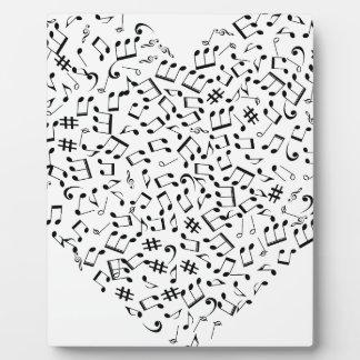 Music notes plaque