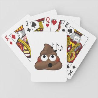 Music Notes Poop Emoji Playing Cards
