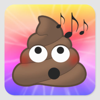 Music Notes Poop Emoji Tie Dye Stickers