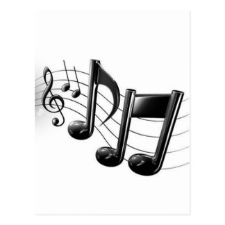 Music Notes Postcard