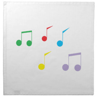 Music Notes Printed Napkins