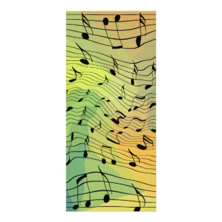 Music notes rack card