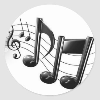 Music Notes Round Sticker